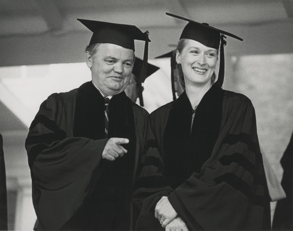 Rocky Stinehour and Meryl Streep receiving Honorary Doctorate Degrees at Dartmouth College