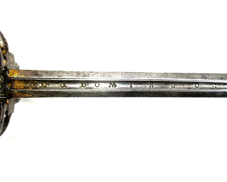 Probably-Italian-swept-hilt-silver-encrusted-rapier-circa-1570-Friedland-arms-sword-silver-decoration-continental-Rapier-6.jpg