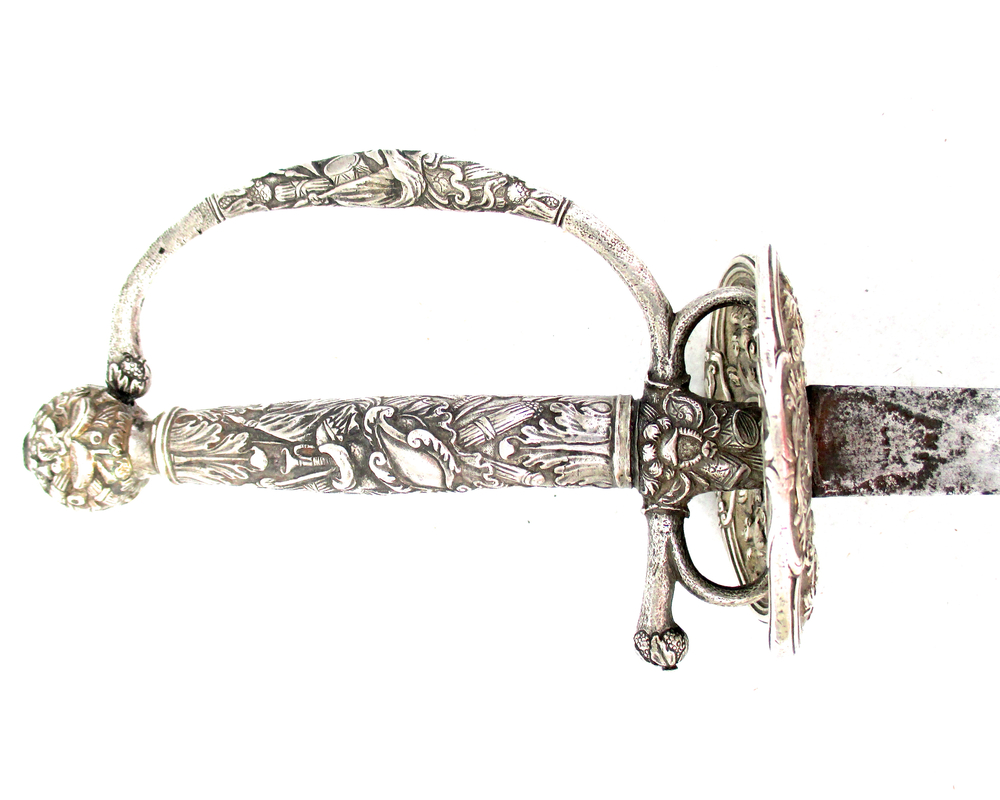 north-european-silver-hilted-small-sword-gary-friedland-arms-armor-weapons