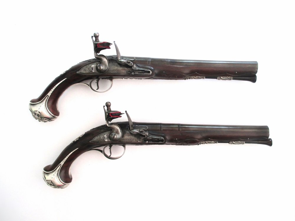 Very Fine Pair of 14 Bore Silver-Mounted Holster Pistols by James Freeman, London, Circa 1715-gary-friedland.jpg