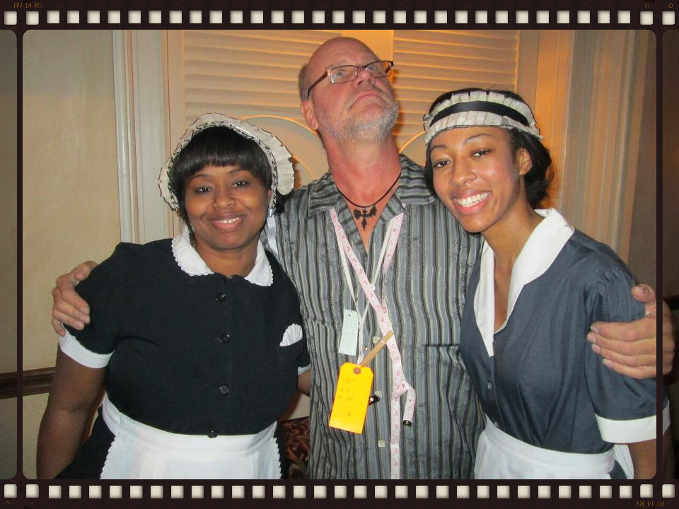 DeAnna & Lauren with the costume director Stephen Chudej in the Devil Deal Blues Movie