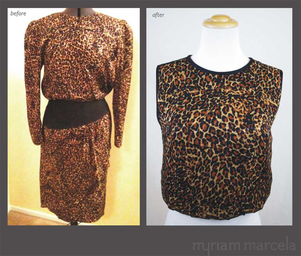 Night Leopard Blouse.-