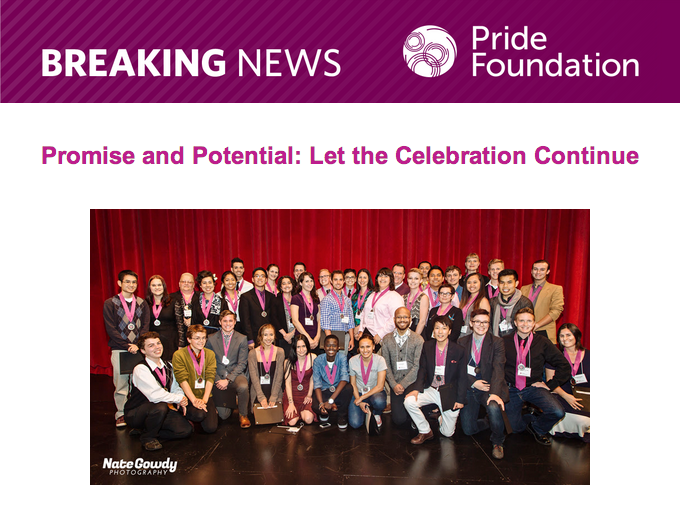 Mailer from Pride Foundation