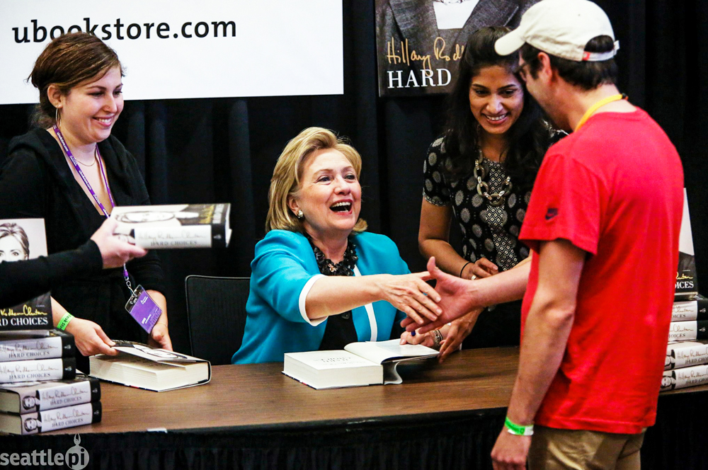 Me and Hillary! (Credit: Joshua Trujillo for SeattlePI.com)