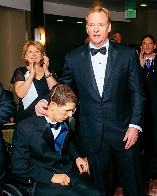 Zackery Lystedt and NFL Commissioner Roger Goodell