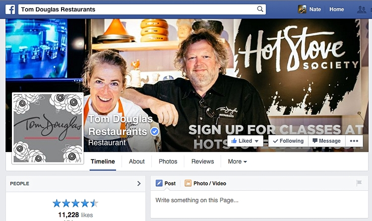 Tom Douglas Restaurants' Facebook cover photo since September 2nd, 2014