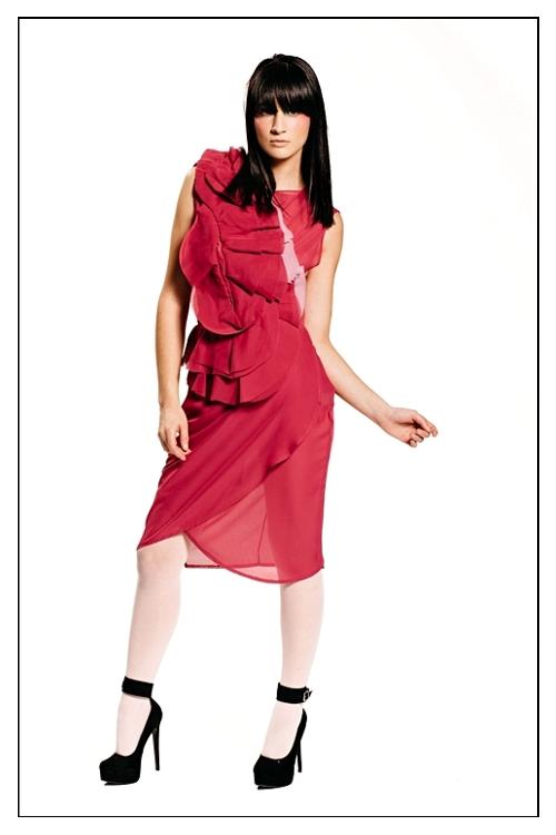 Designer: Devon Yan; Hair: Briana Haskell; Makeup & Hair: Nancy Nav.