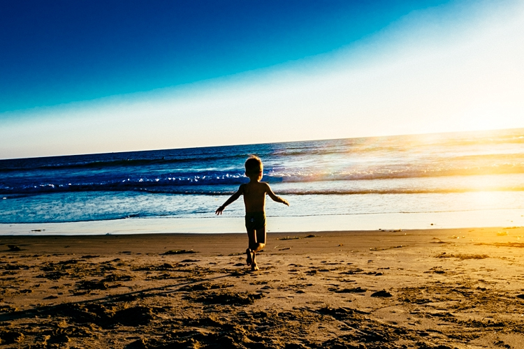 My favorite summertime snapshot of the year. Titus running to the ocean during our trip to San Diego in September.