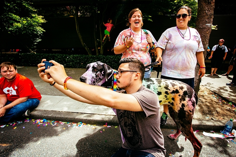 In a world of so many selfies, this one from Seattle Pride really makes me smile.