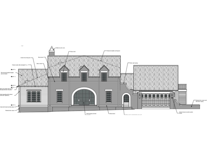 Front Elevation. Architecture by Blackmon Rogers