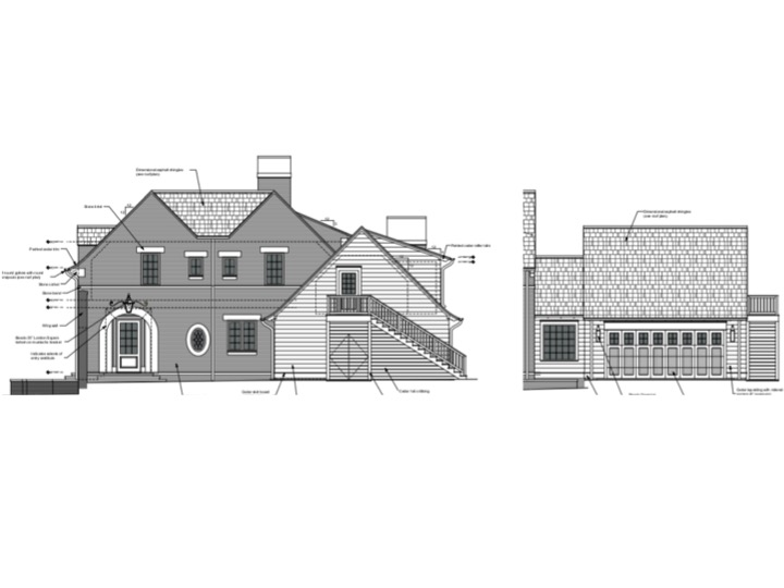 Motor Court & Garage Elevation.