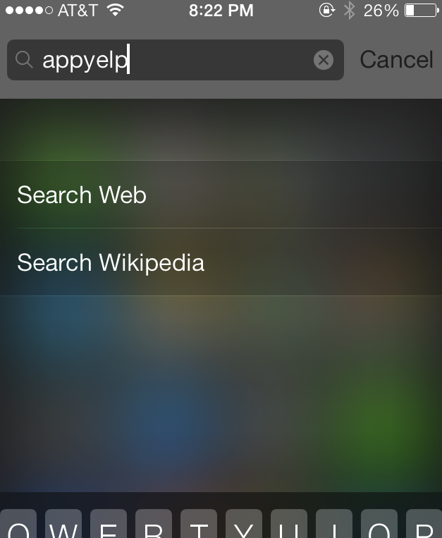 Apple please provide a way to make the search in spotlight non-sticky for your users' sake!