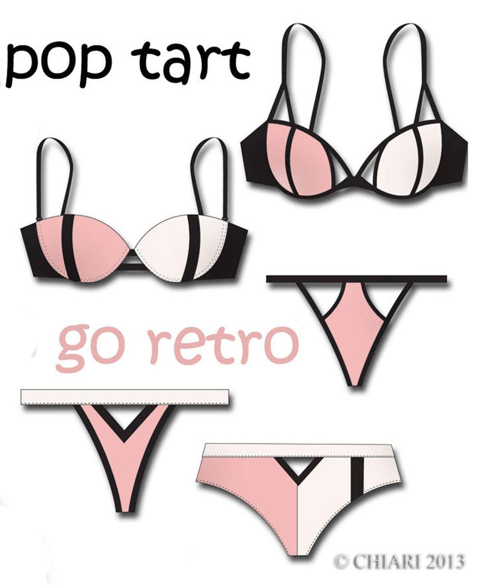 CHIARIstyle:Pop Tarts Retro lingerie trend