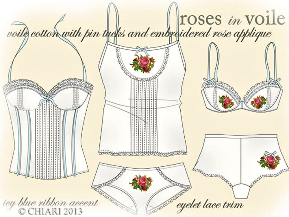 CHIARIstyle Roses in Voile