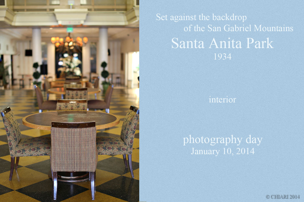 Santa Anita Park January 10, 2014 Photography Day