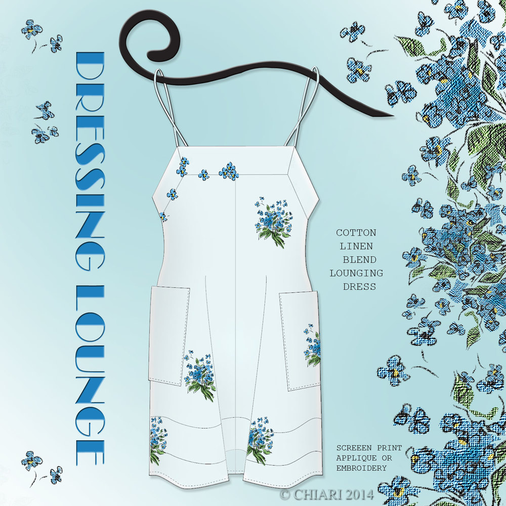 Dressing Lounge Cotton Linen Sleep Dress: CHIARIStyle 14