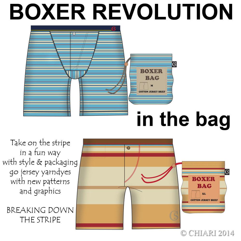 In the bag: BOXER REVOLUTION CHIARIstyle