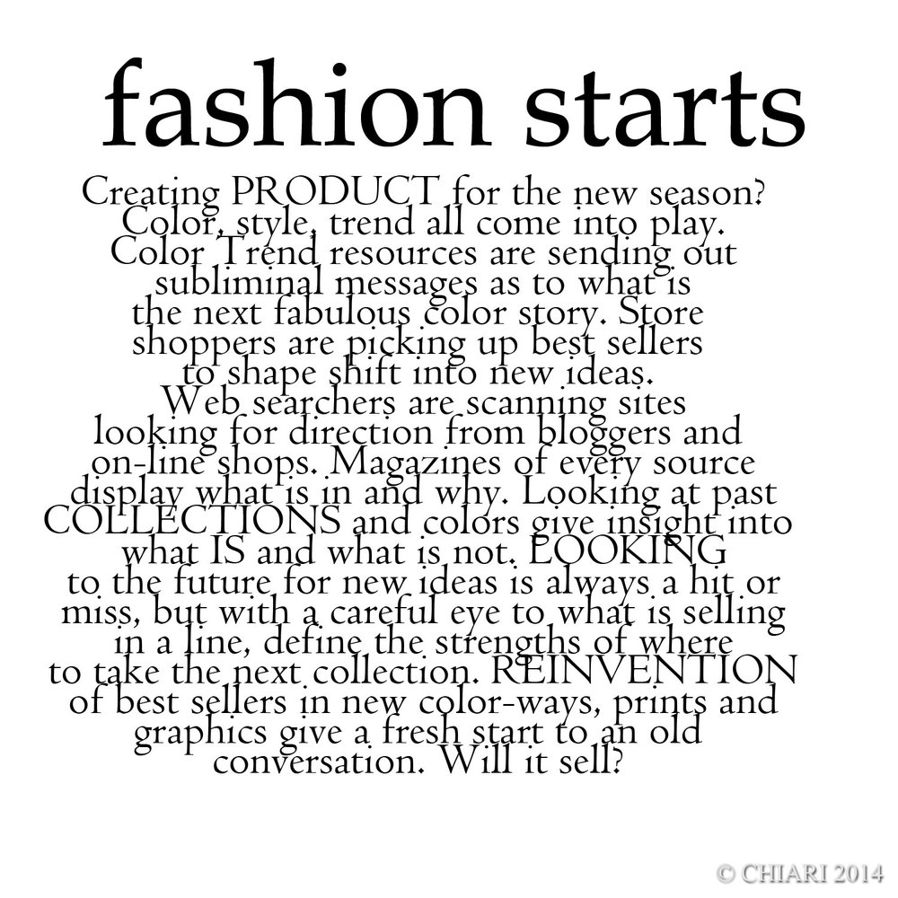 Fashion starts...CHIARIstyle