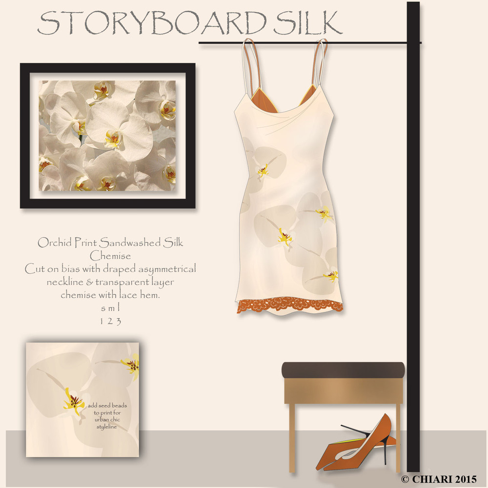 Storyboard Silk Chemise in orchid print CHIARIstyle 15