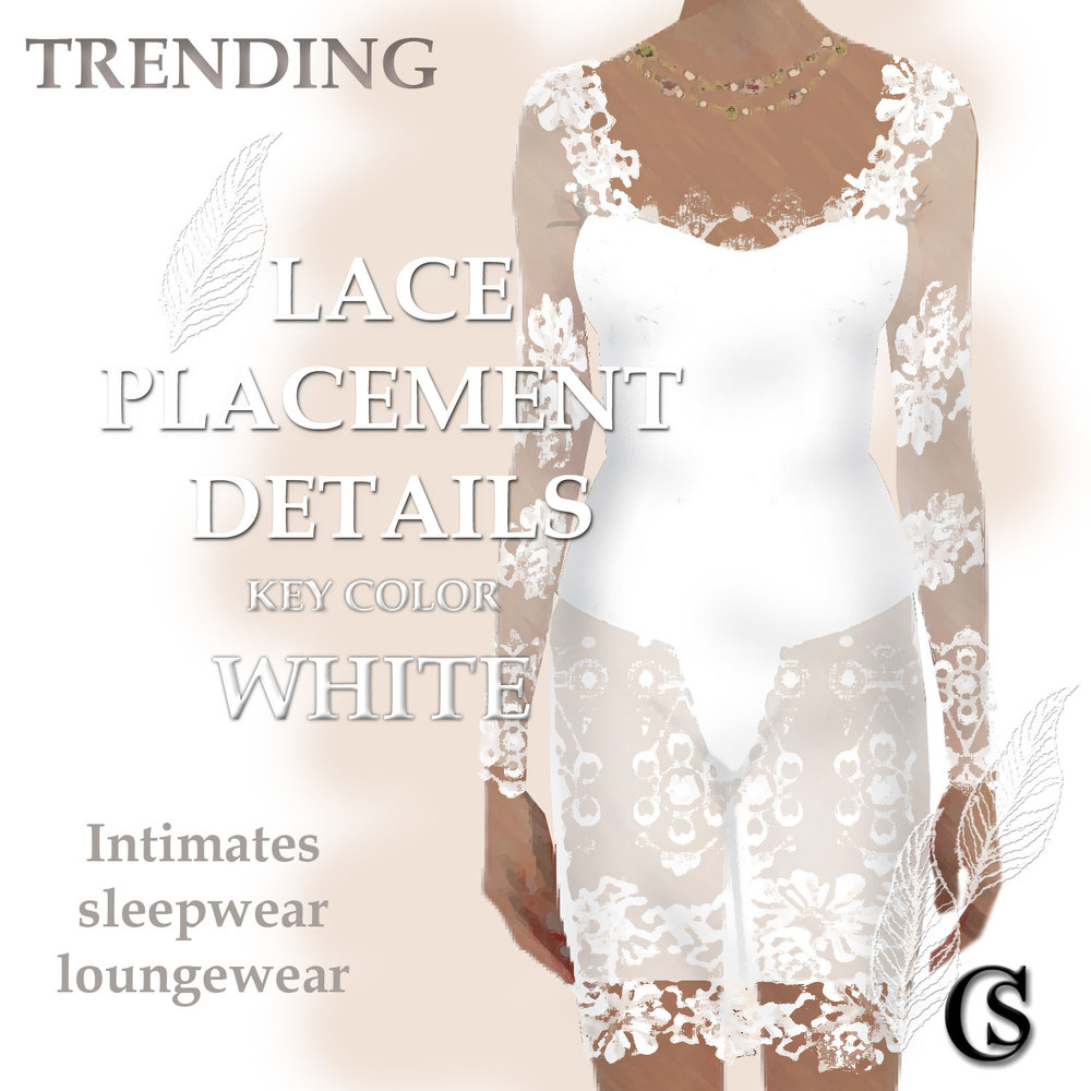 Trending Lace in white for intimates CHIARIstyle 15