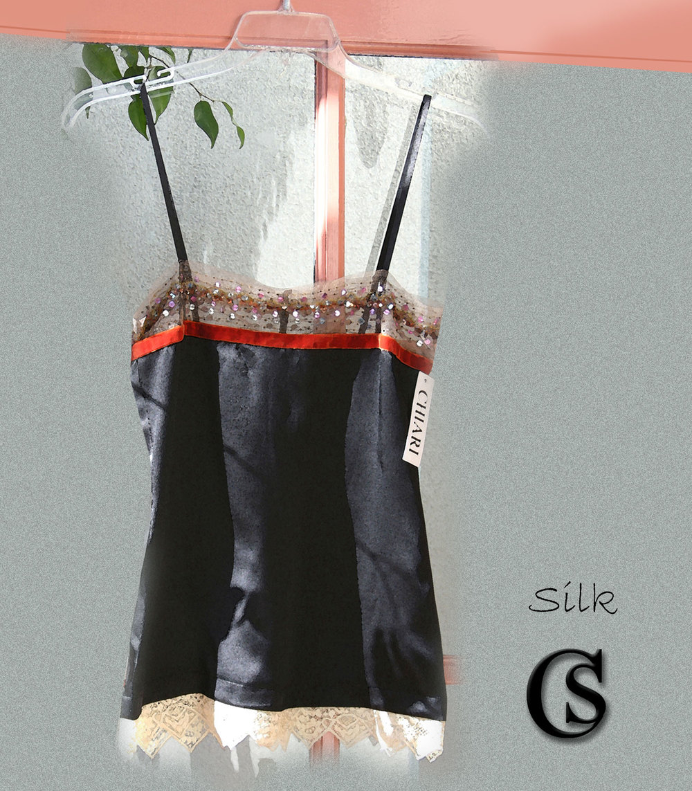 Silk embellished camisole CHIARIstyle