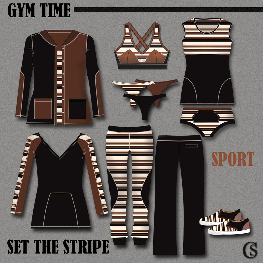 Set the stripe in the gym CHIARIstyle