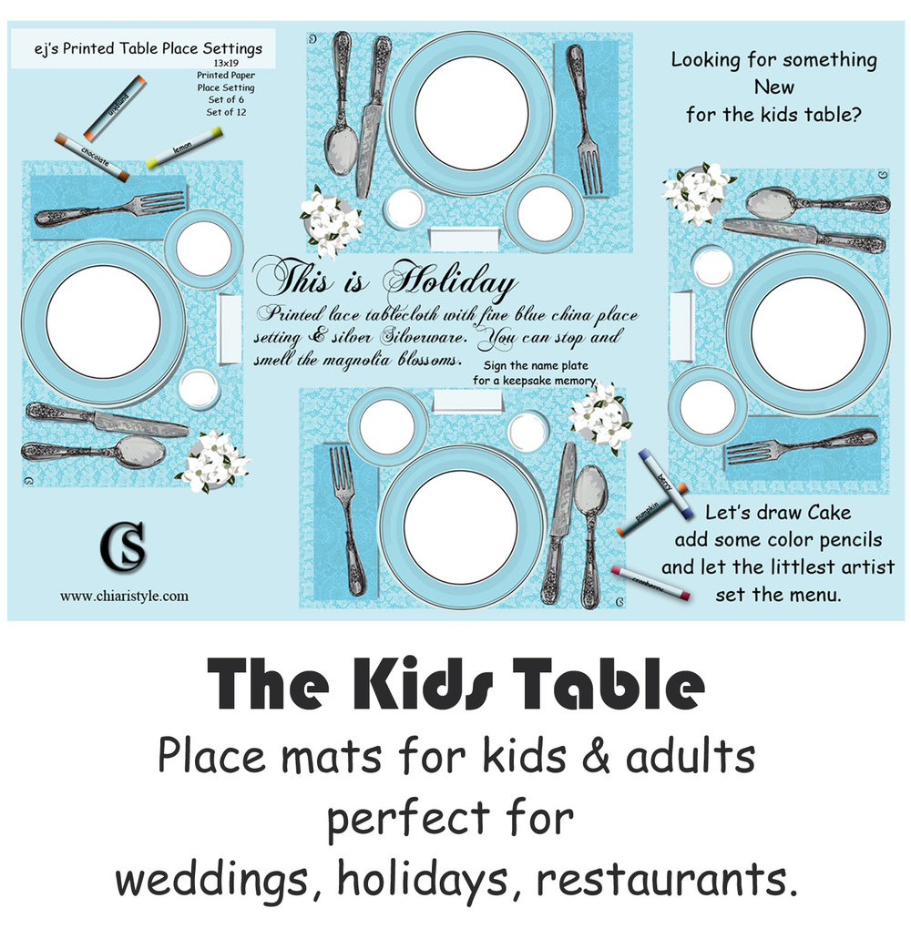 shop kids place mats CHIARIstyle