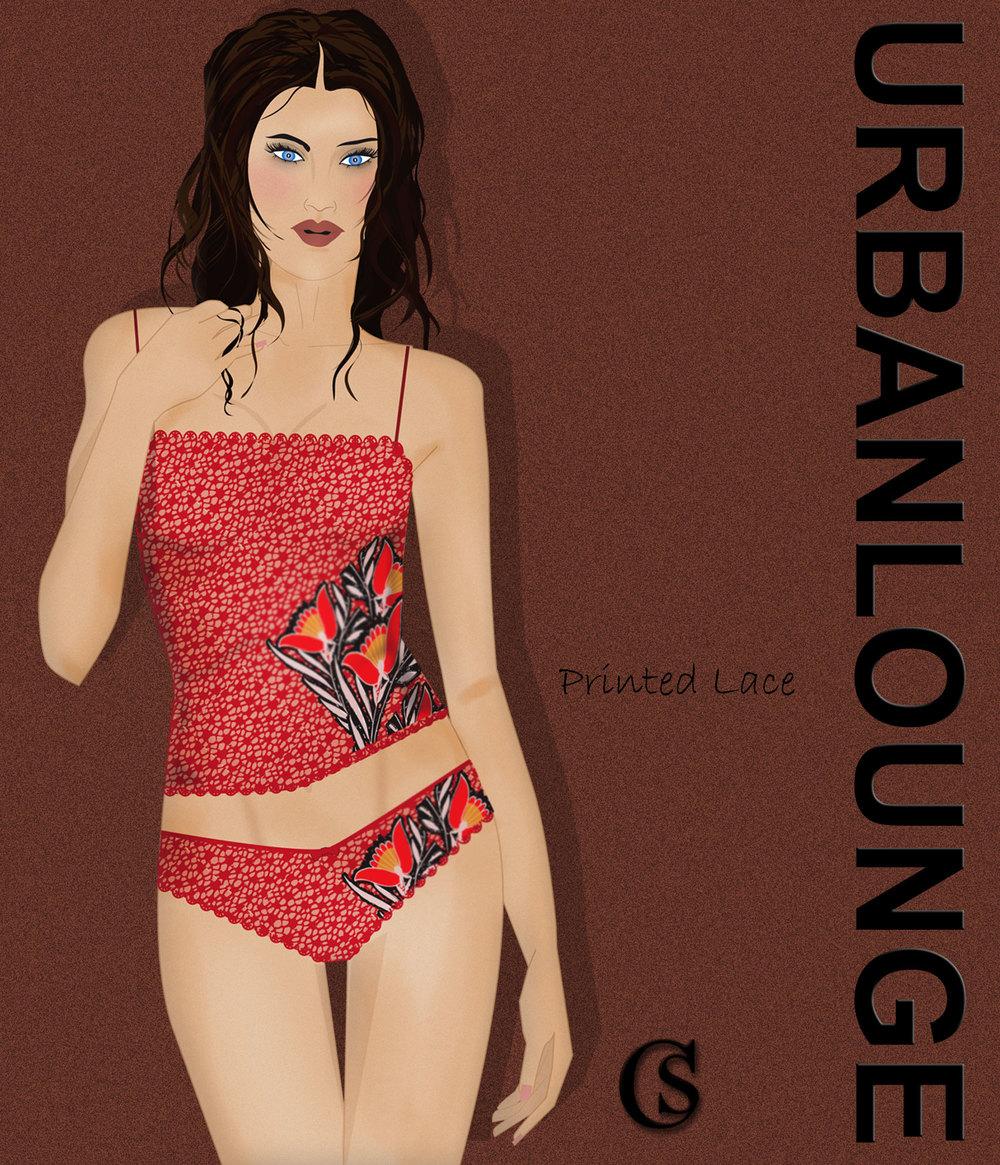 Urban Loungewear Printed Lace CHIARIstyle