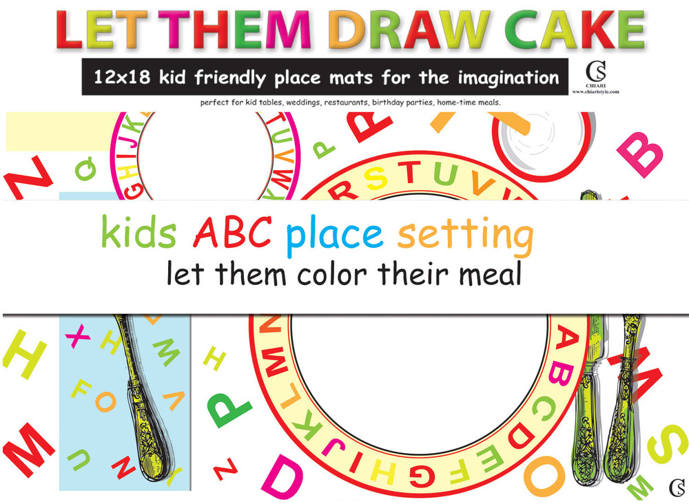 Let them draw cake CHIARIstyle Place Mats