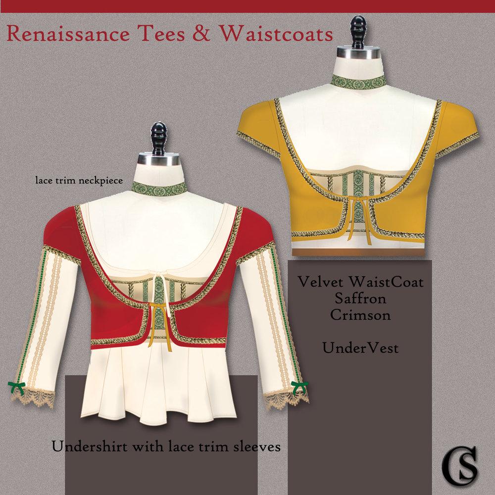 Renaissance tees and waistcoats CHIARIstyle