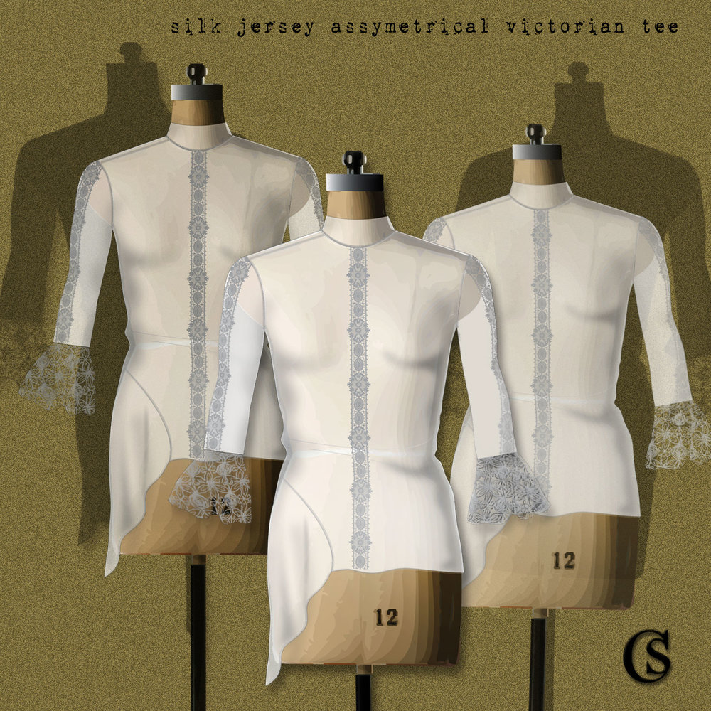 Silk Jersey goes victorian CHIARIstyle
