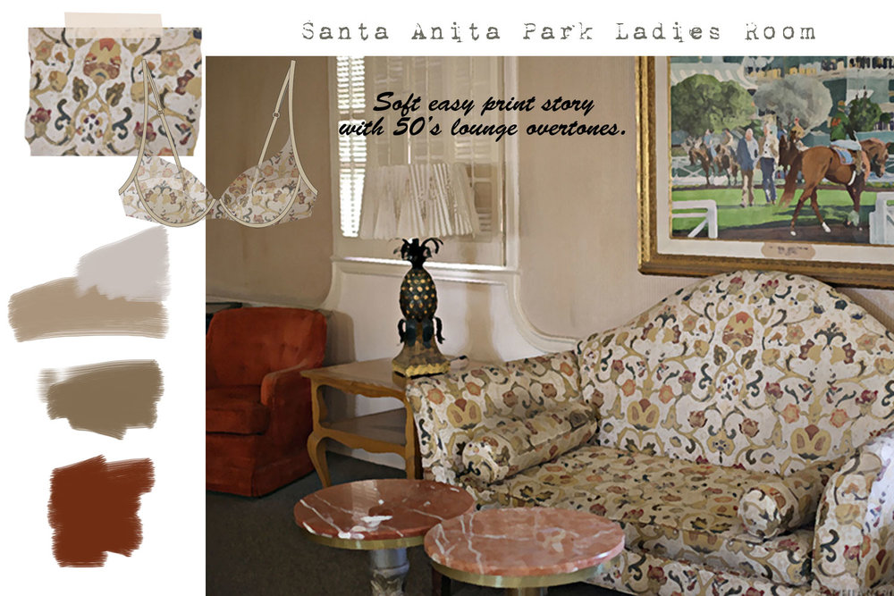 Santa Anita Park The Ladies Room: Loungewear Storyboard CHIARIstyle