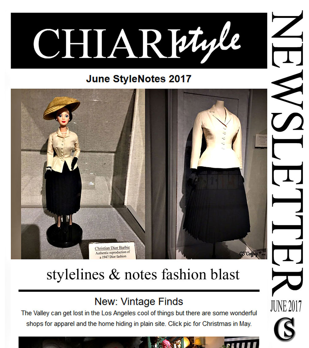 NewsLetter Send Out Notice CHIARIstyle