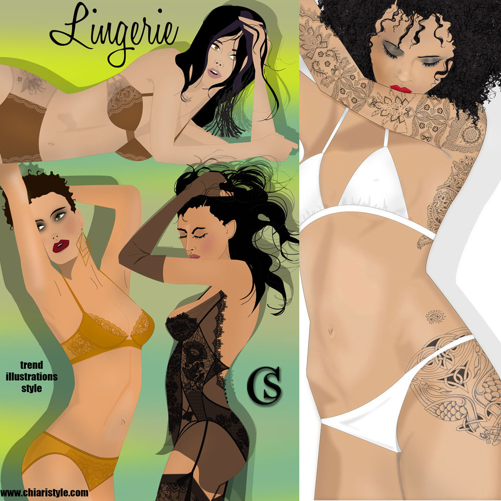 Illustrating Lingerie Concepts CHIARIstyle