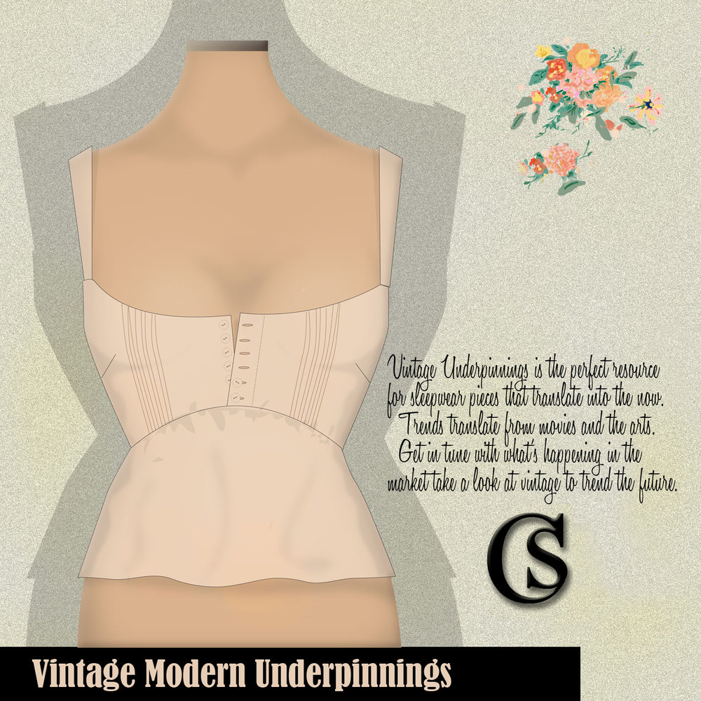 Vintage Modern Underpinnings are trending CHIARIstyle