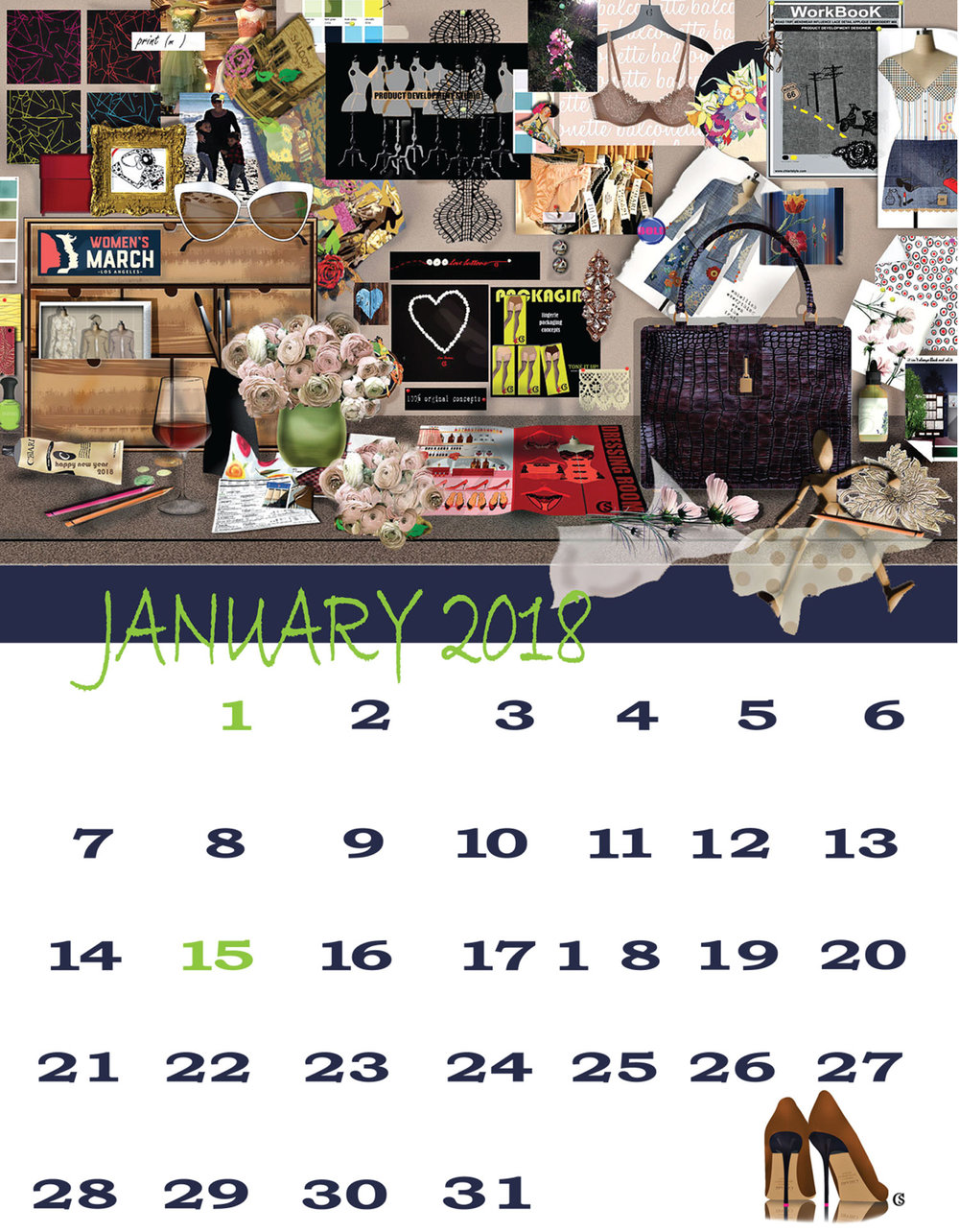January 2018 Just Fashion Calendar CHIARIstyle