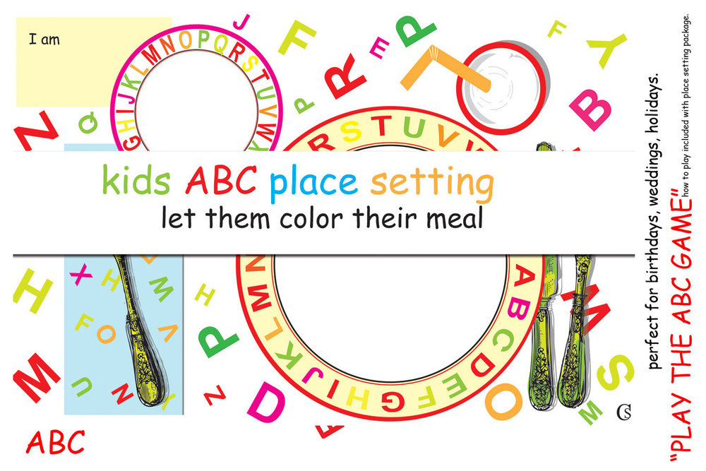 Let Them Draw Cake kid friendly place mats CHIARIstyle
