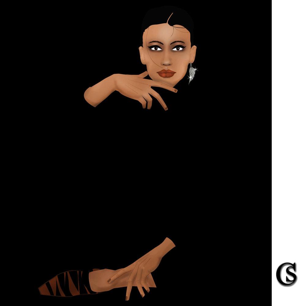 Fashion Illustration in black