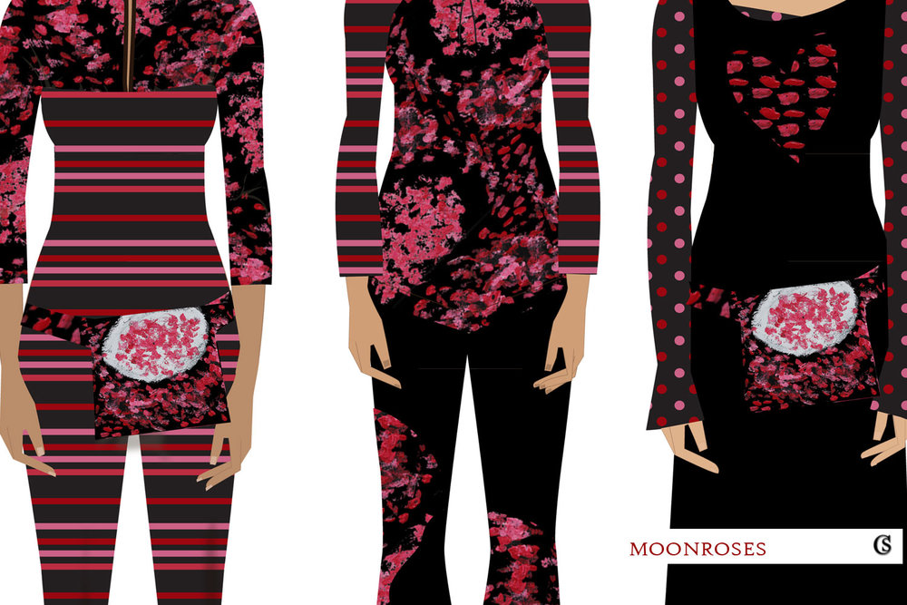 Moonroses and stripes CHIARIstyle