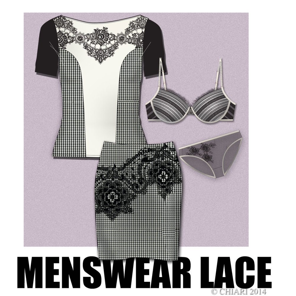 Menswear and Lace