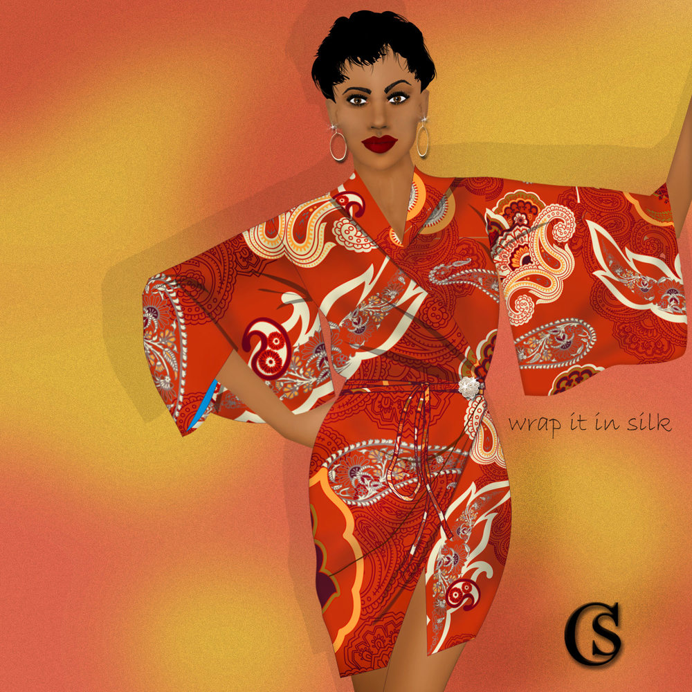 The kimono is wrapping it up