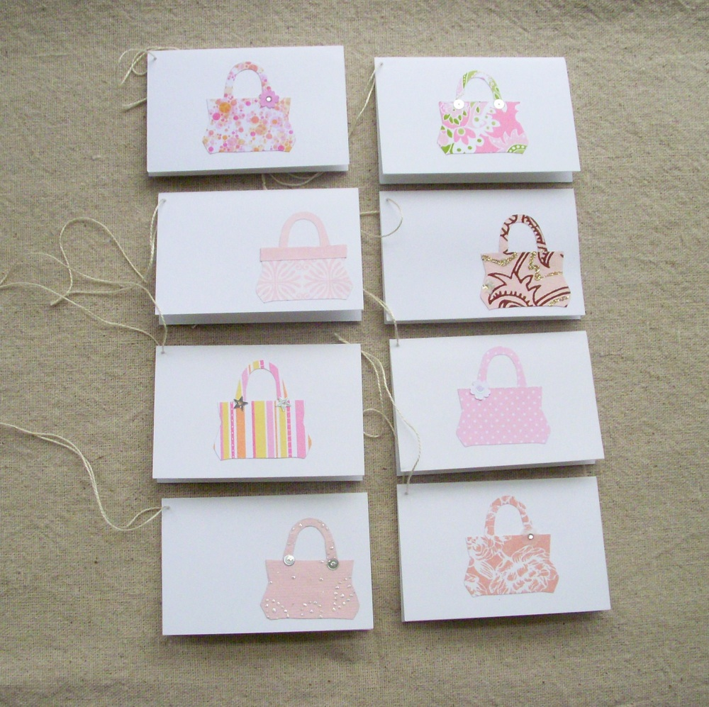 Tote Bag Gift Tags in Pink