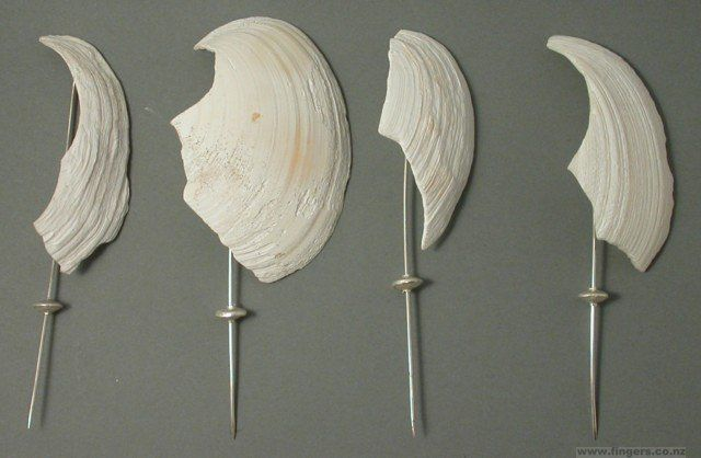 White Foreshore Fragment Pins, 2004
