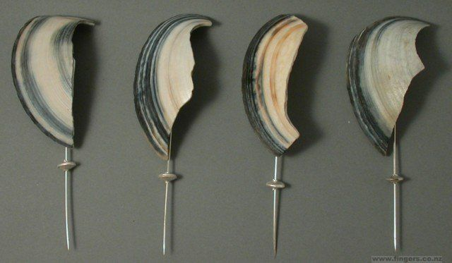 Black Foreshore Fragments Pins, 2004