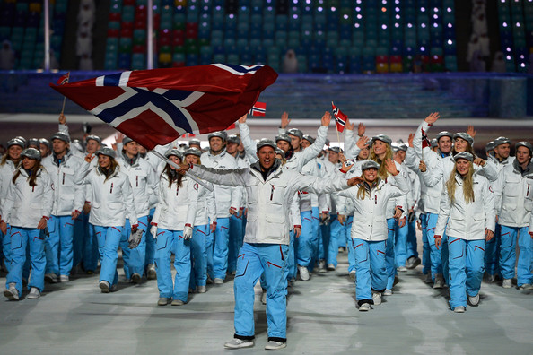Norwegian Olympic team at Opening ceremonies