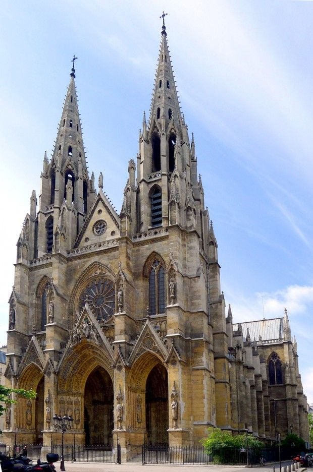 St. Clotilde in Paris, France...perhaps a cathedral like this?