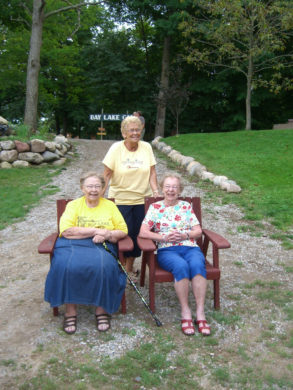 Aunt Essie, Aunt Connie, and Aunt Ruth....my mom's three sisters.