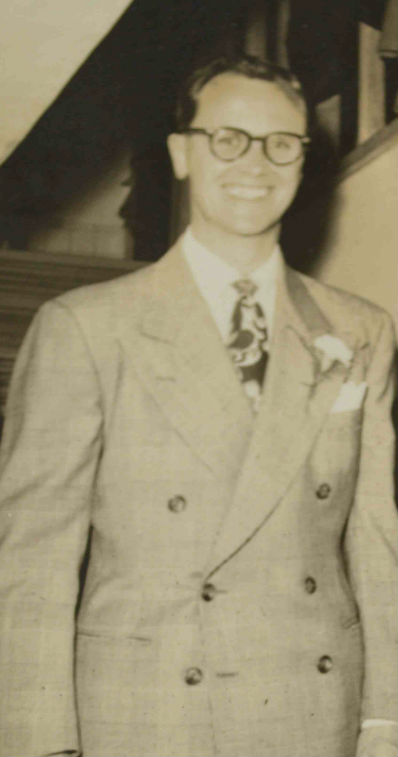 Dad on his wedding day...
