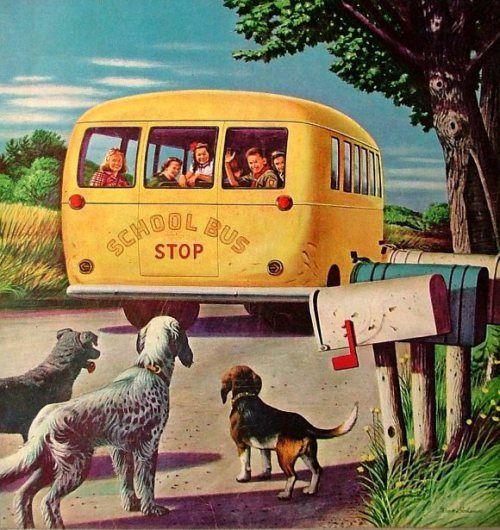 A retro school bus sketch from my era...