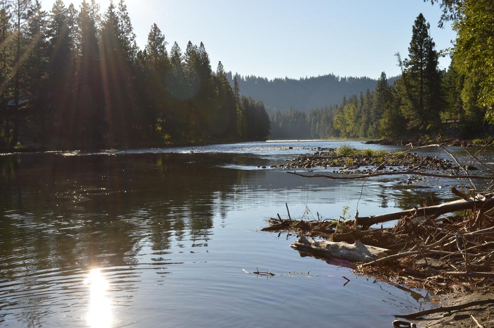 The Wenatchee River...